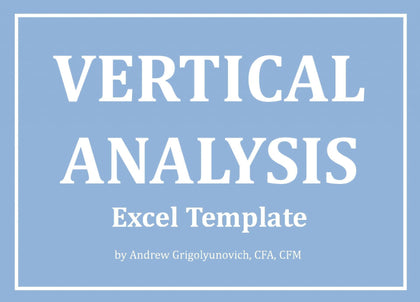 Vertical Analysis Excel Template - Templarket -  Business Templates Marketplace