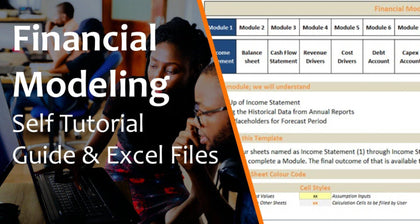 3 Statement Financial Modeling with DCF & Relative Valuation - Self Learning Kit - Templarket -  Business Templates Marketplace