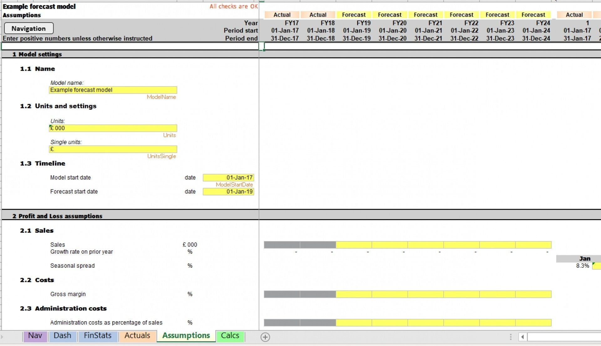example model excel template 5