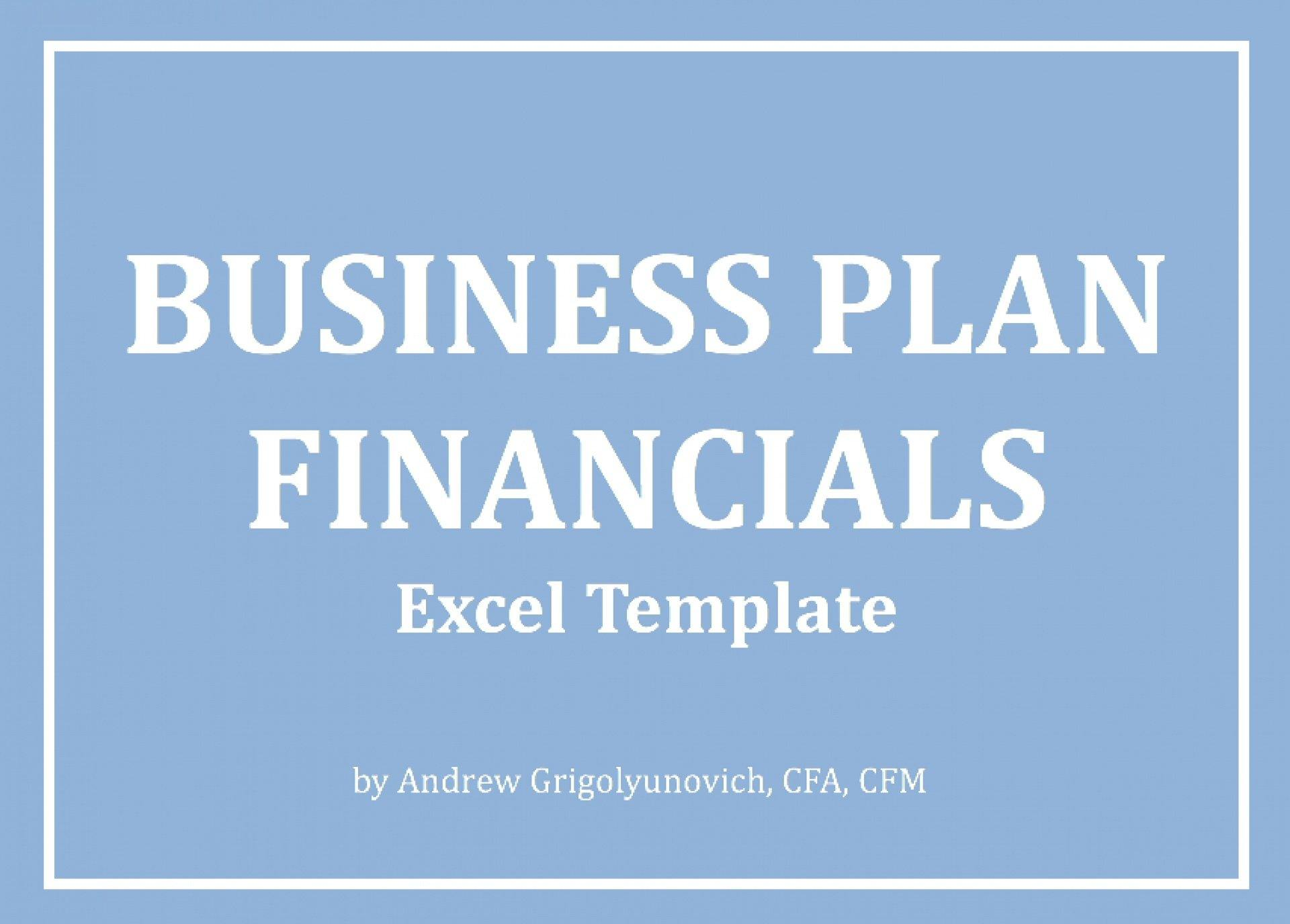 Business Plan Financials Excel Model - Templarket -  Business Templates Marketplace