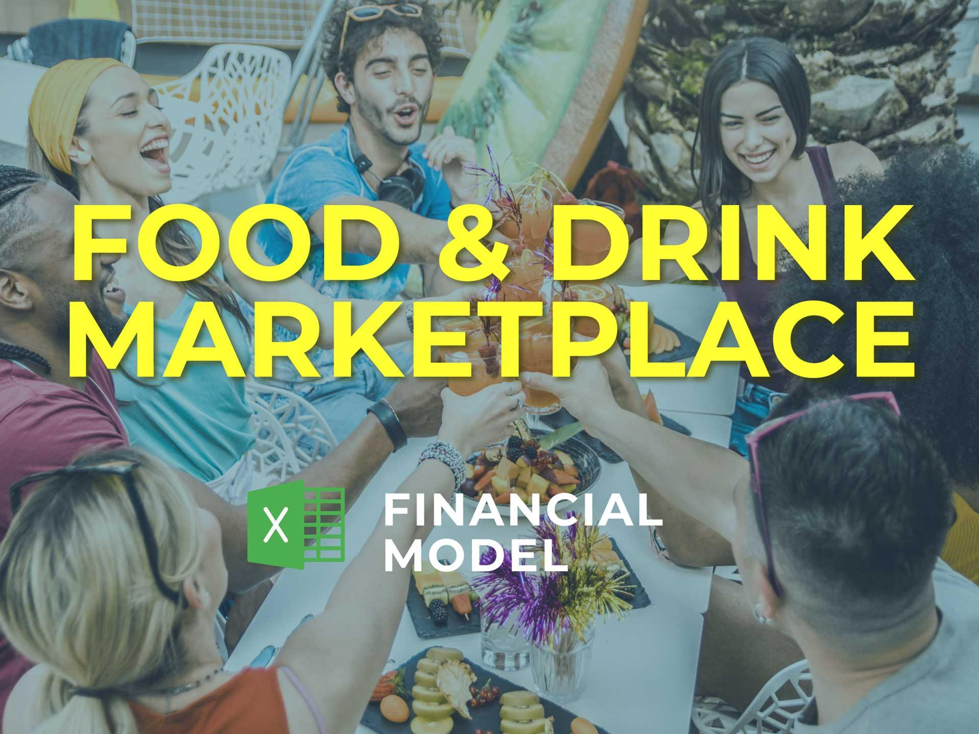 Food & Drink Marketplace Financial Model Excel Template - Templarket -  Business Templates Marketplace