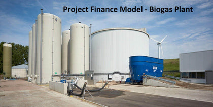 biogas plant waste to energy financial model with 3 statements cash waterfall npv irr and flexible timeline 1