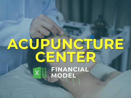 Acupuncture Center Financial Model Excel Template - Templarket -  Business Templates Marketplace