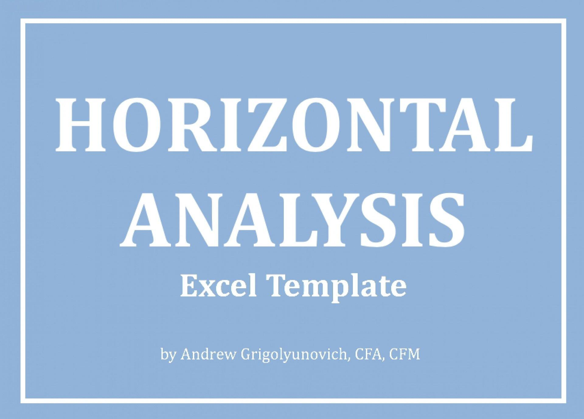 Horizontal Analysis Excel Template - Templarket -  Business Templates Marketplace