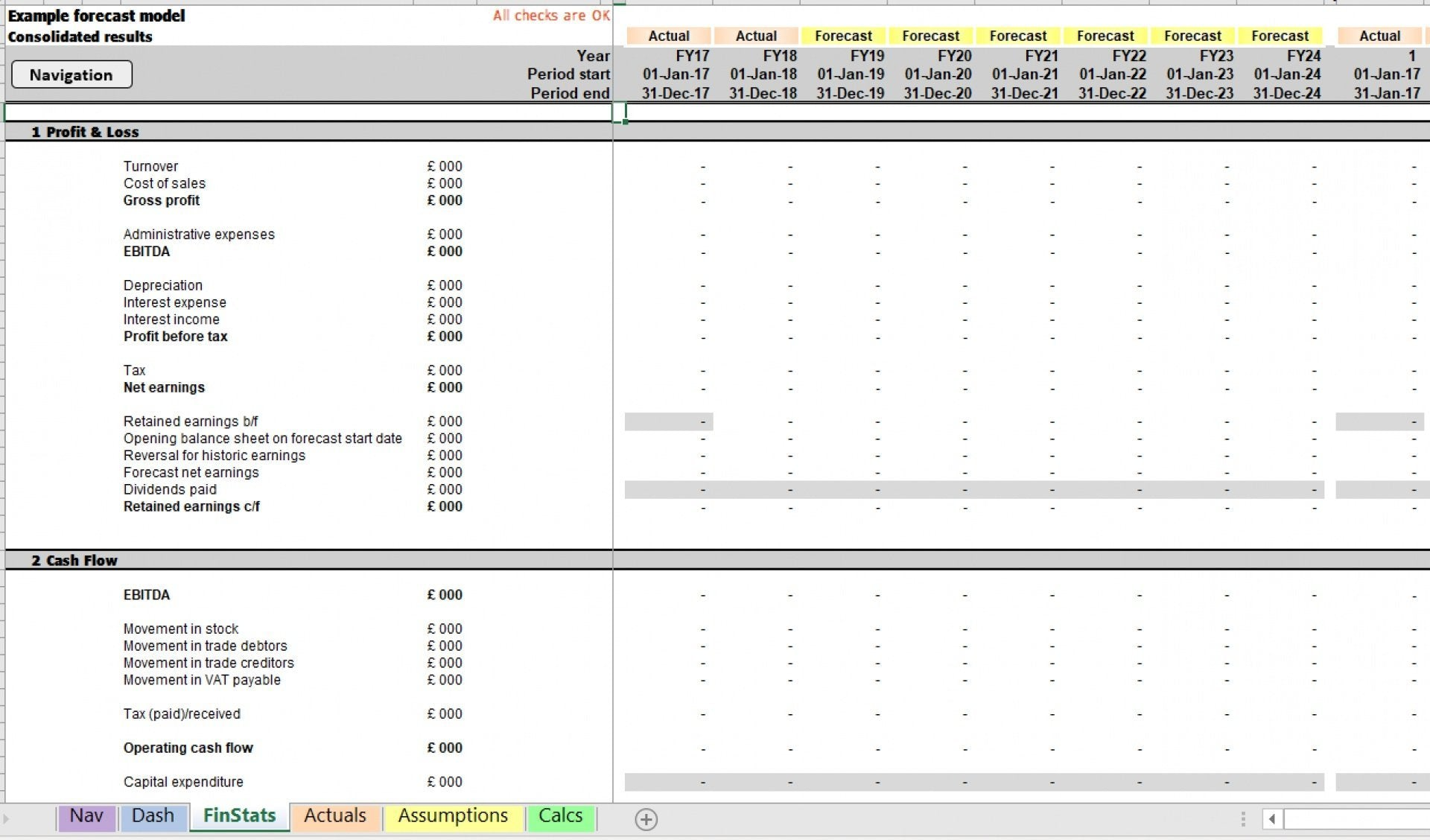 example model excel template 2