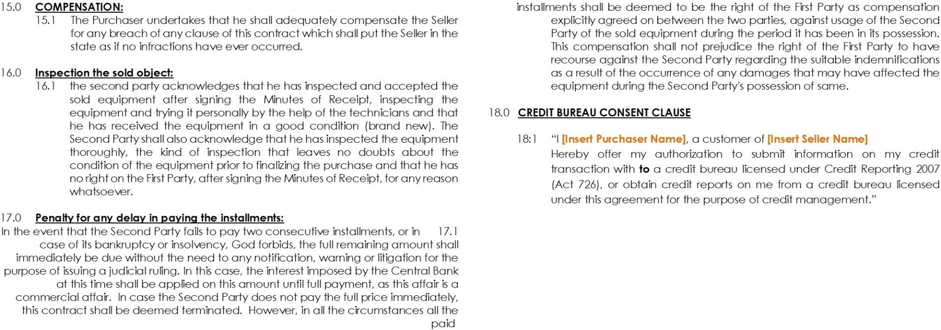 sales agreement with reserving the right of ownership 6