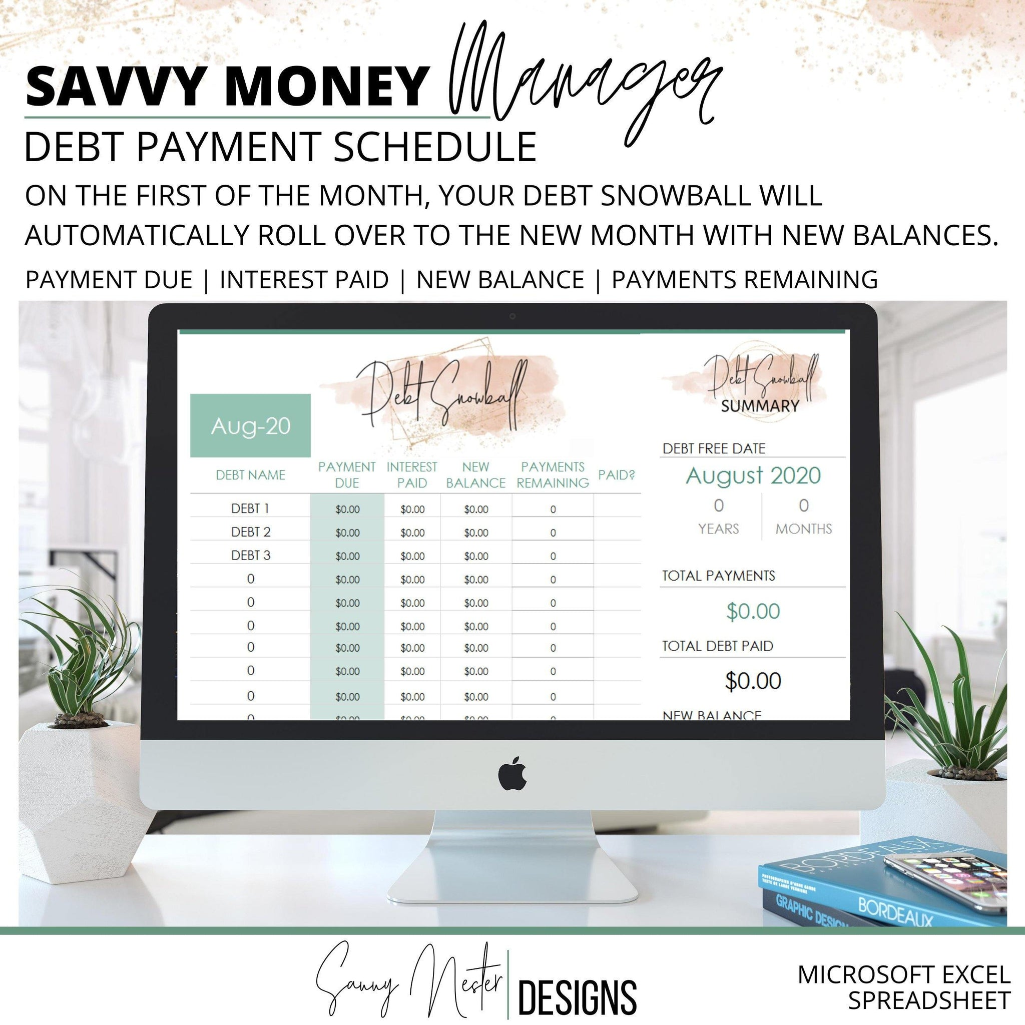 Budget Planner Weekly Income Excel Debt - Templarket -  Business Templates Marketplace