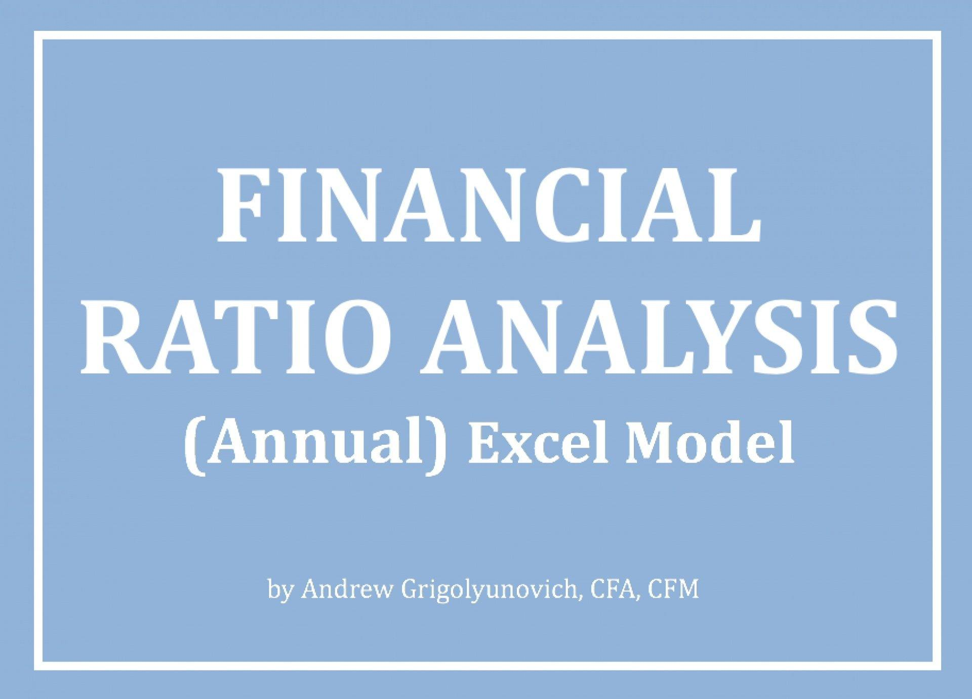Financial Ratio Analysis (Annual) Excel Model - Templarket -  Business Templates Marketplace