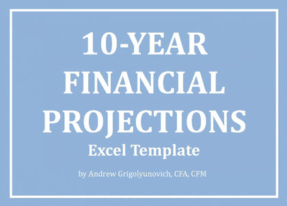 10-Year Financial Projections Excel Model - Templarket -  Business Templates Marketplace