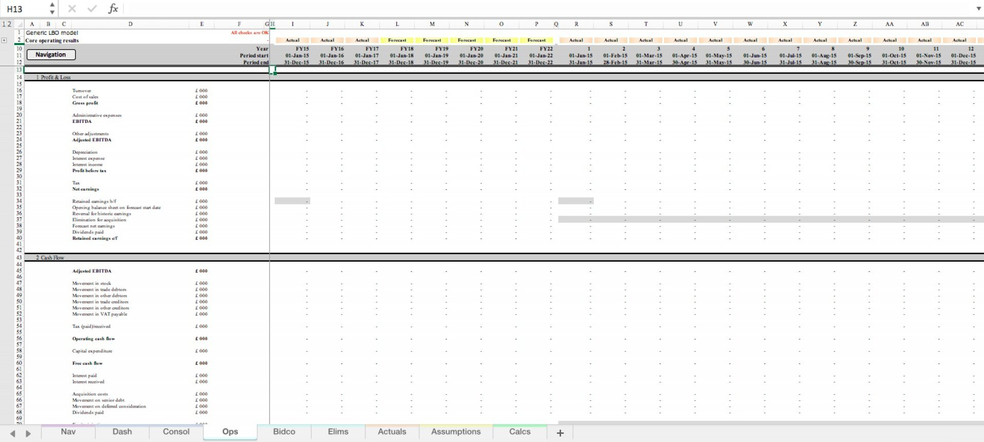 generic lbo leveraged buyout excel model template 7