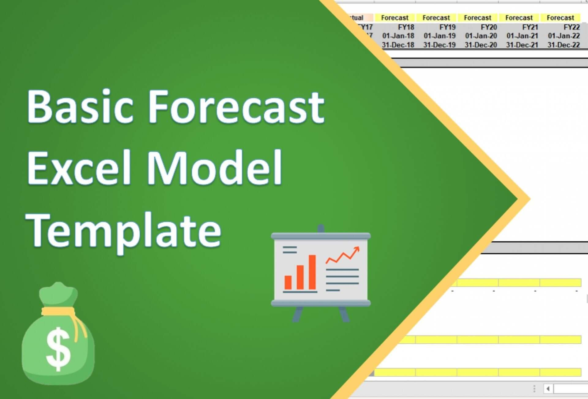 basic forecast excel model template 1