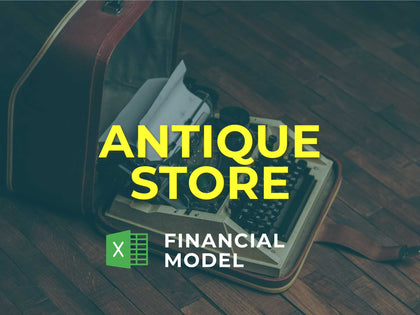 Antique Store Financial Model Excel Template - Templarket -  Business Templates Marketplace