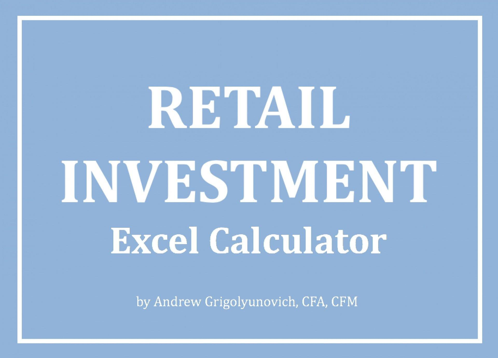 Retail Investment Excel Calculator - Templarket -  Business Templates Marketplace