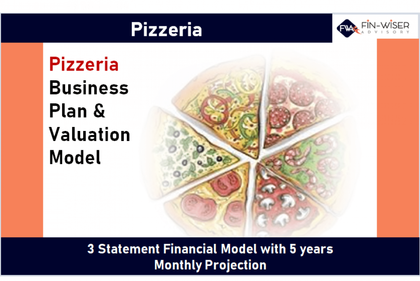 pizzeria 3 statement financial model with 5 years monthly projection and valuation 10