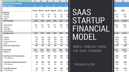 saas startup financial model 1