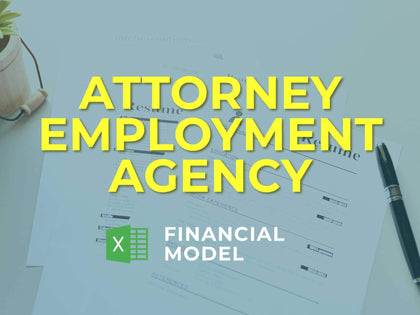 Attorney Employment Agency Financial Model Excel Template - Templarket -  Business Templates Marketplace