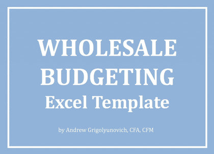 Wholesale Budgeting Excel Template - Templarket -  Business Templates Marketplace