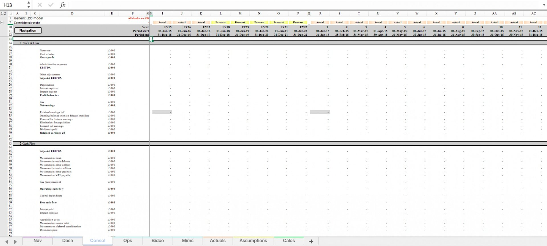 generic lbo leveraged buyout excel model template 8