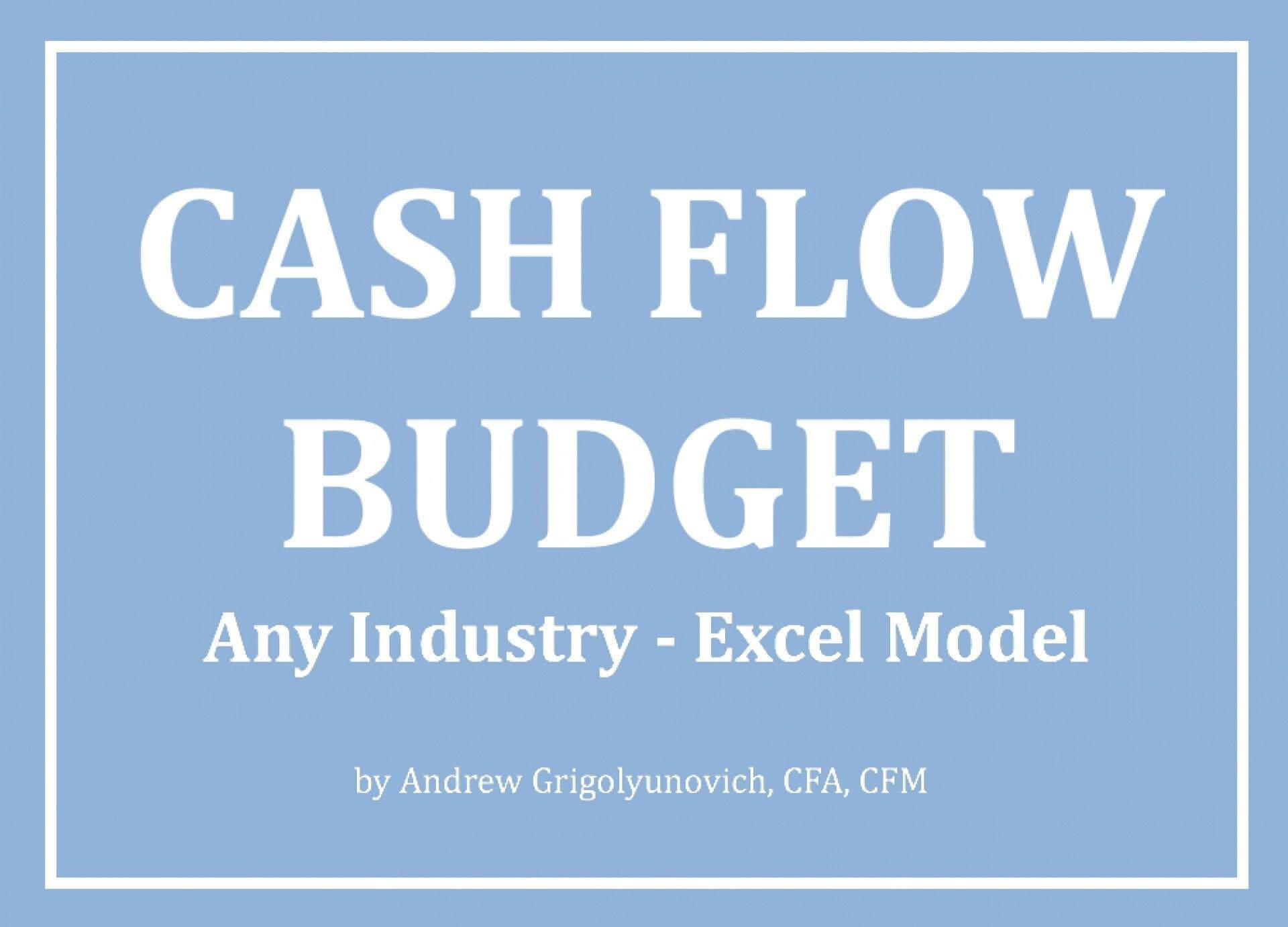Cash Flow Budget Excel Model - Any Industry - Templarket -  Business Templates Marketplace