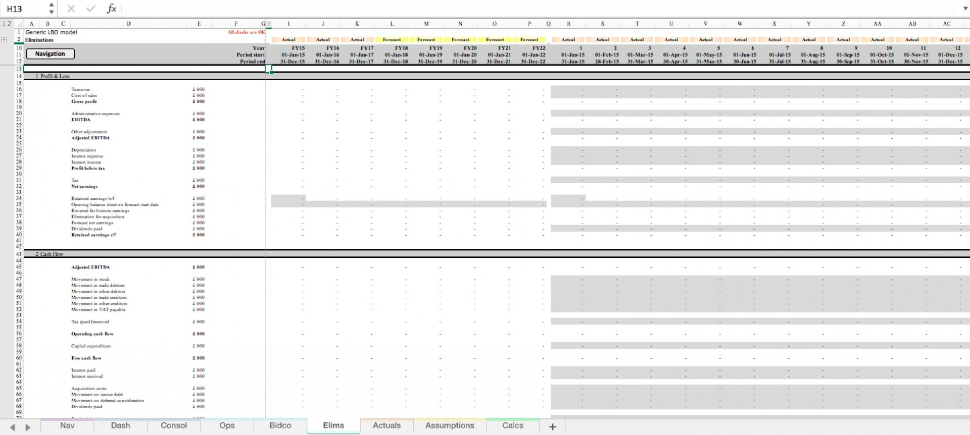 generic lbo leveraged buyout excel model template 5