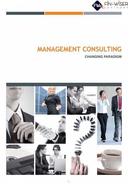 management consulting changing paradigm a thought leadership paper by fin wiser advisory 1