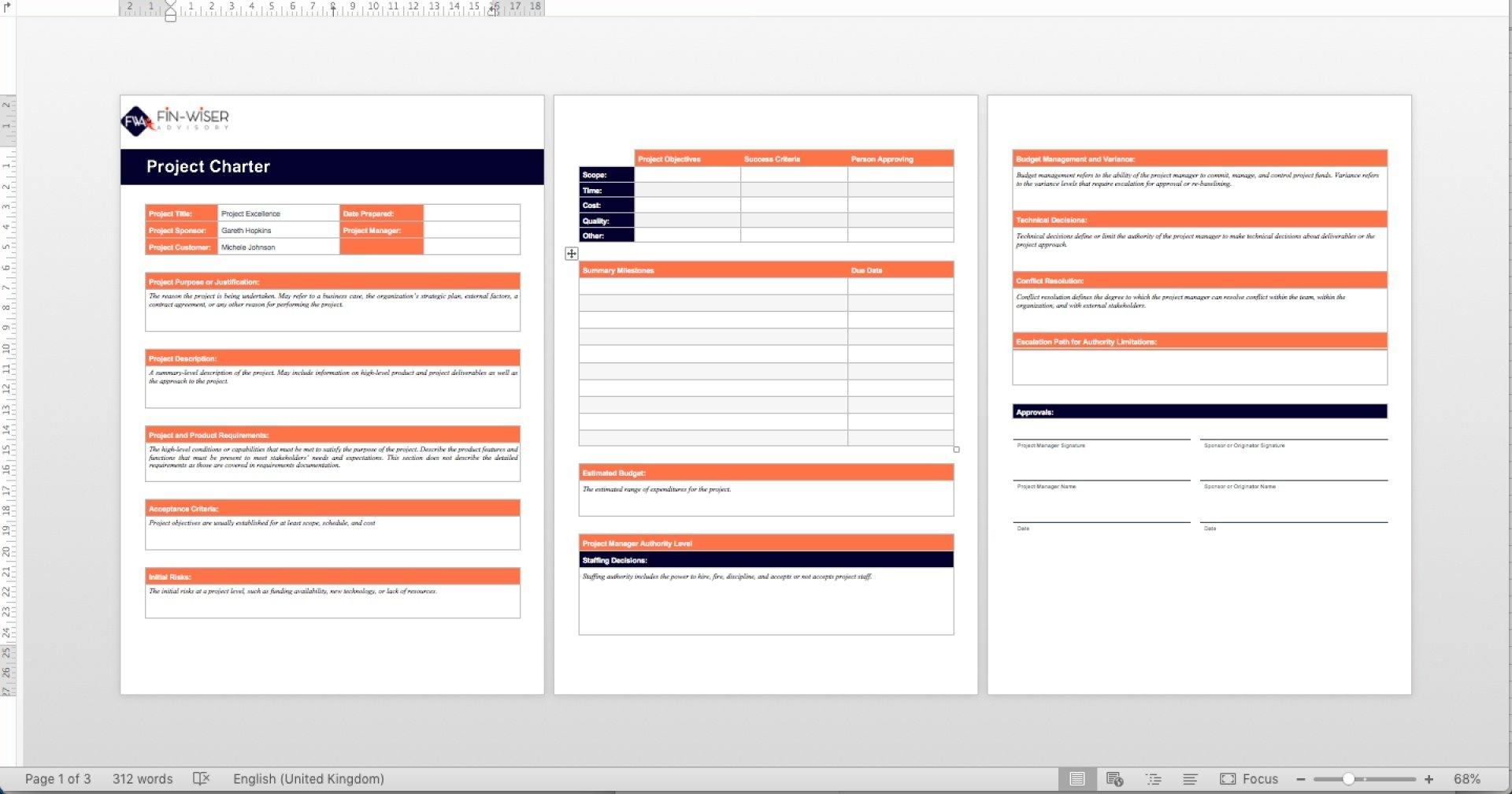 project management templates all phases 2