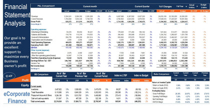 financial statements comparison excel model 1