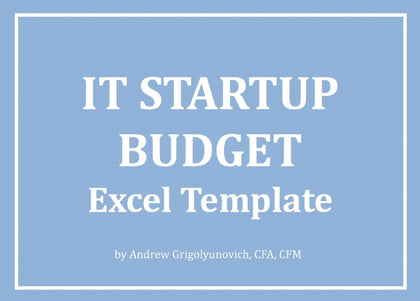 IT Startup Budget Excel Template - Templarket -  Business Templates Marketplace
