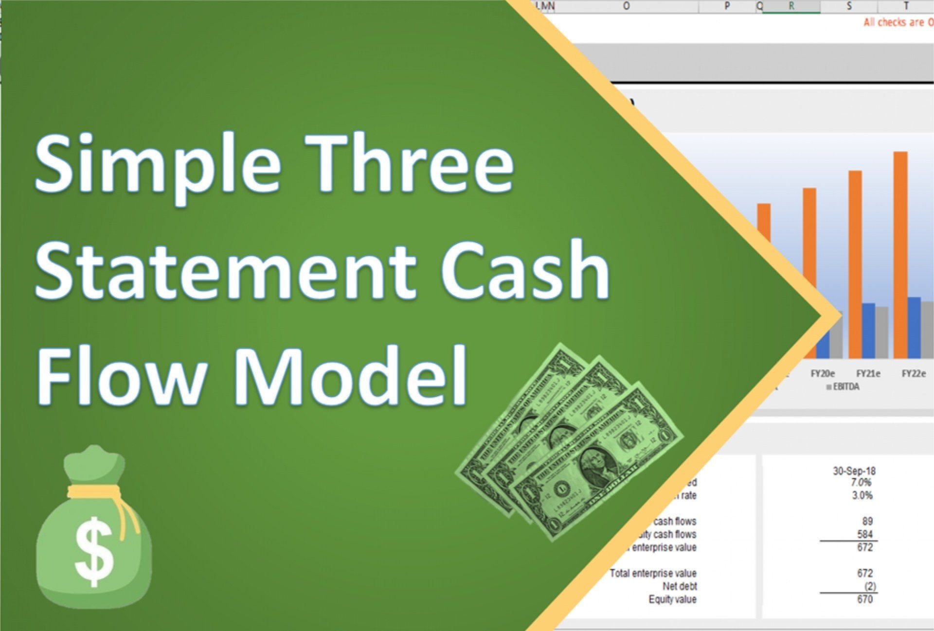 simple three statement excel cash flow model 1