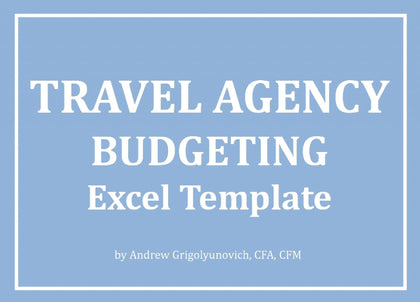 Travel Agency Excel Budgeting Template - Templarket -  Business Templates Marketplace