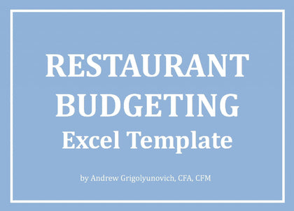 Restaurant Budgeting Excel Template - Templarket -  Business Templates Marketplace