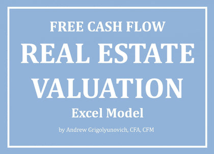 Free Cash Flow Real Estate Valuation Excel Model - Templarket -  Business Templates Marketplace