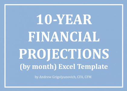 10-Year Financial Projections (by month) Excel Model - Templarket -  Business Templates Marketplace