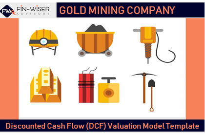 gold mining discounted cash flow dcf valuation model template 1