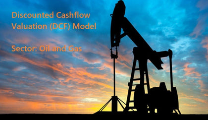 discounted cash flow dcf valuation model with 3 years actual and 5 years forecast oil and gas company 1