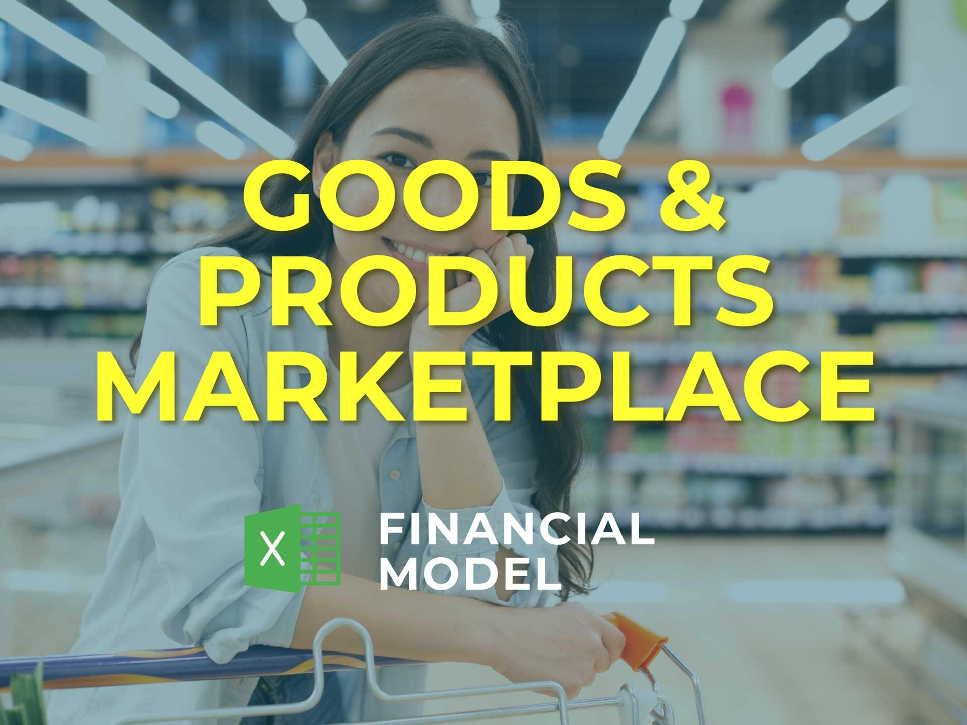 Goods & Products Marketplace Financial Model Excel Template - Templarket -  Business Templates Marketplace