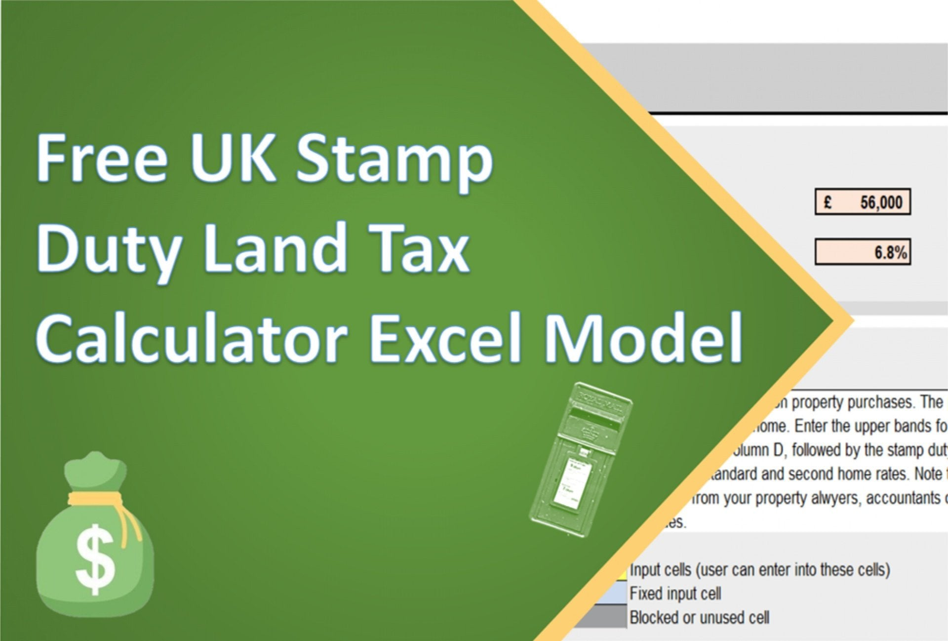 uk stamp duty land tax calculator excel model 1