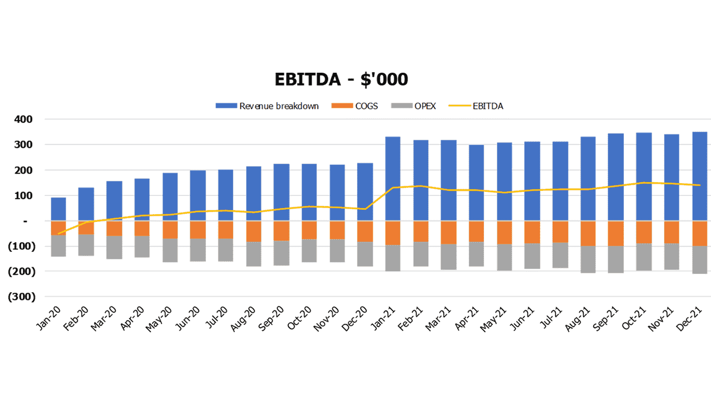 Tailor Business Model Excel Template Financial Charts Ebitda