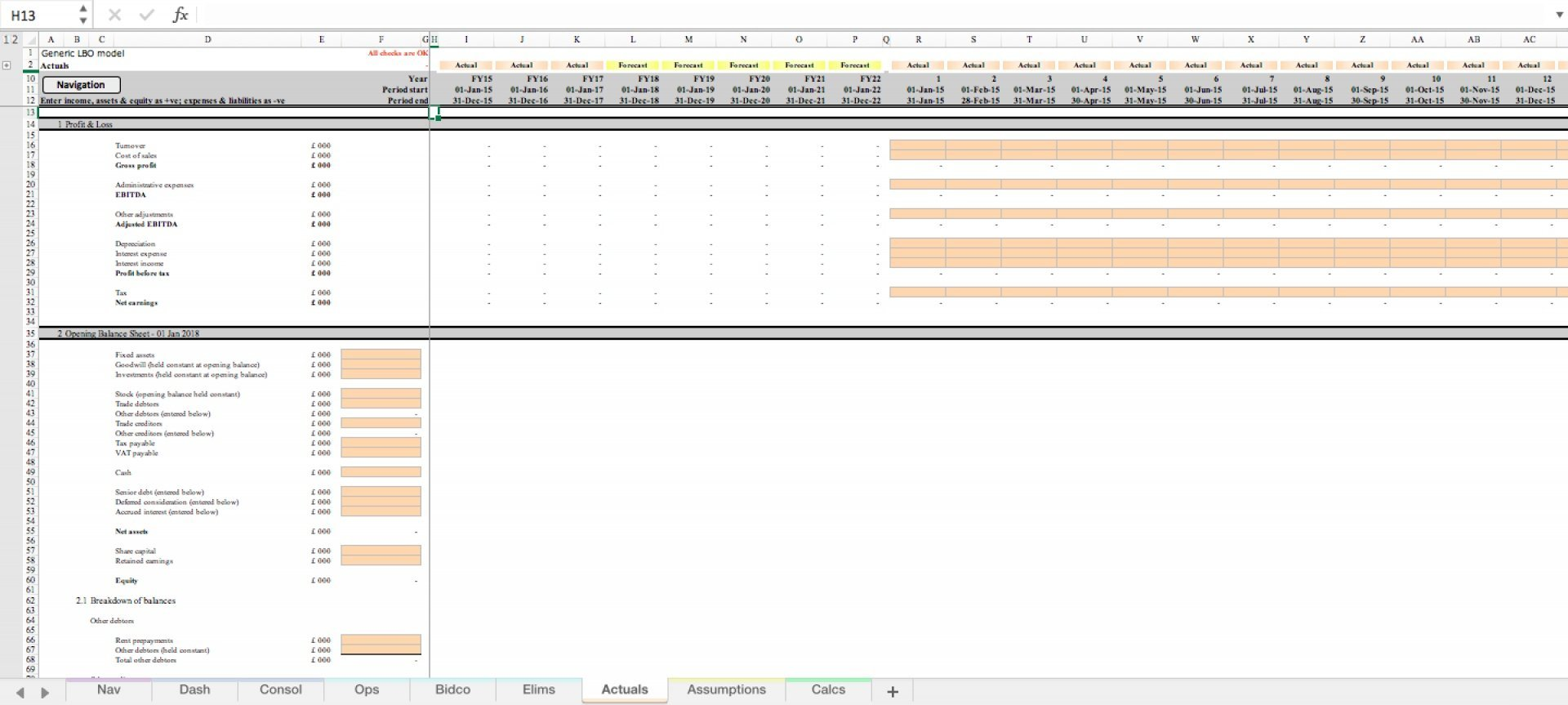 generic lbo leveraged buyout excel model template 4