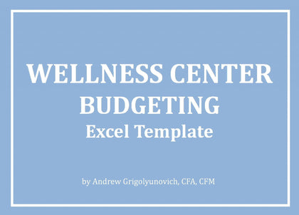 Wellness Center Excel Budget Template - Templarket -  Business Templates Marketplace