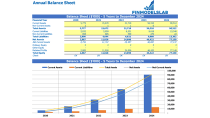 Annual Balance Sheet - Templarket -  Business Templates Marketplace
