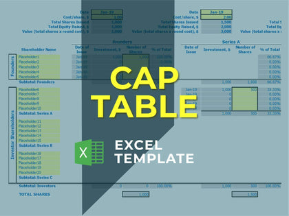 Capitalization Table - Templarket -  Business Templates Marketplace