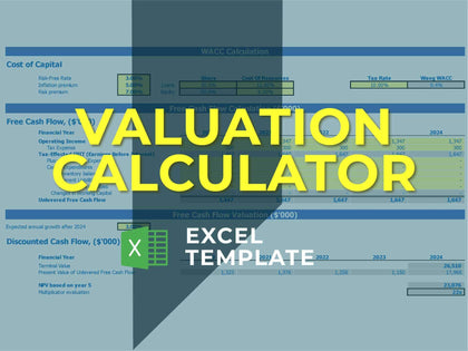DCF Calculator - Templarket -  Business Templates Marketplace