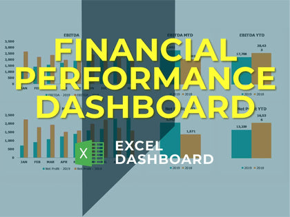 Annual Financial Performance Dashboard - Templarket -  Business Templates Marketplace