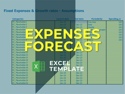 Monthly Expenses - Templarket -  Business Templates Marketplace
