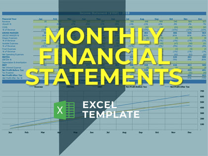 Monthly Financial Statement - Templarket -  Business Templates Marketplace