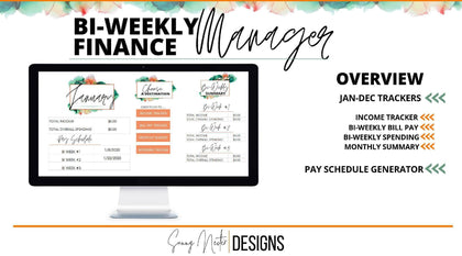 Biweekly Paycheck Finance Manager - Templarket -  Business Templates Marketplace