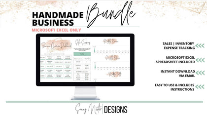 Handmade Business Bundle - Sales, Inventory, Product Cost and Product Pricing all in one - Templarket -  Business Templates Marketplace