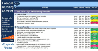 Financial Reporting Checklist Excel Template - Templarket -  Business Templates Marketplace