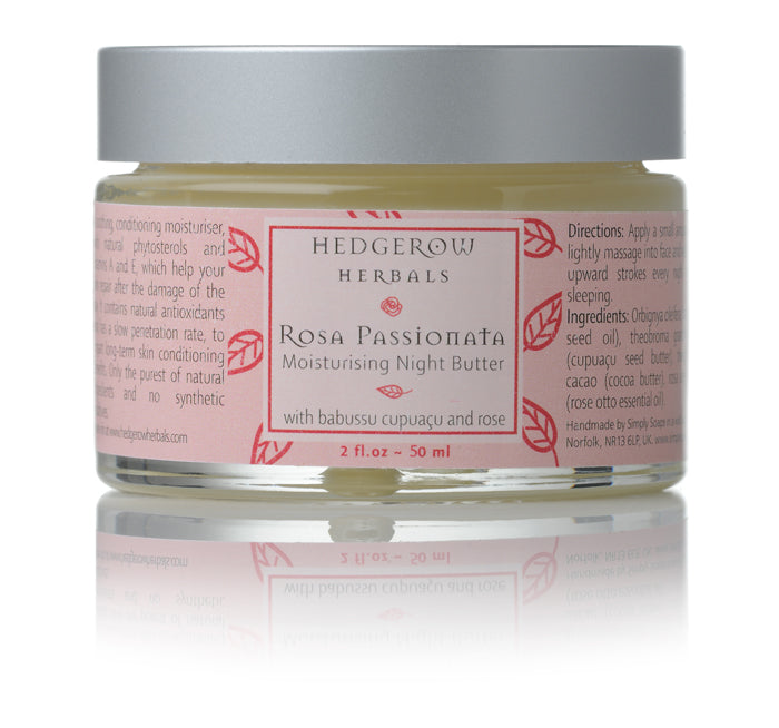 Rosa night butter in 50 ml jar